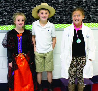 Crittenden-Mt. Zion Elementary - Macie Monday as a witch, Jameson Gates as a paleontologist and Addison Case as a veterinarian