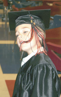 Gunner Fagan sees if his tassle is tasty.