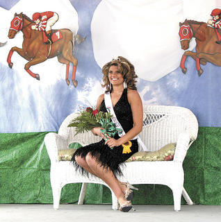Taylor Niekirk smiles after winning Miss Derby Day.