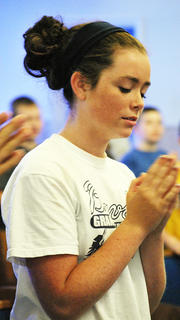 Keaton Wampler practices some dance moves for the song 'Amazing Grace'