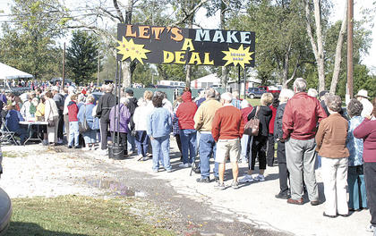 "Despite a little rain, cool temperatures and blustery winds, a large crowd came out for the Senior Bash held Sept. 15 at Grant County Park. The annual event is sponsored by the Grant County Fiscal Court and Grant County Parks and Recreation. This year's theme was ""Let's Make A Deal."""