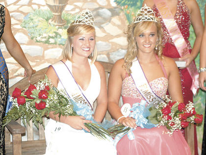 At the opening night of the Grant County Fair, Karri Edmondson was named 2012 Miss Grant County, while Morgan McClure was chosen at the 2012 Miss Grant County Fair. McClure will represent Grant County at the state pageant. See next week's News for more photos from the fair.