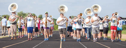 The 2014 Grant County Band camp was held to start to prepare for next season. Photos by Annette Crimmins