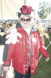 Louise Bivens of Crittenden came dressed in costume ready to play along with the theme.