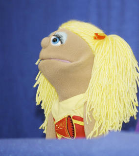 The Covington, Tenn. Church of Christ Youth Group gave a puppet show performance.