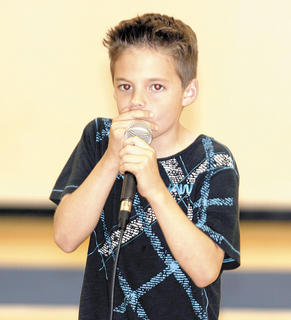 Nash Smith shows off his original talent and beat boxes during the show.