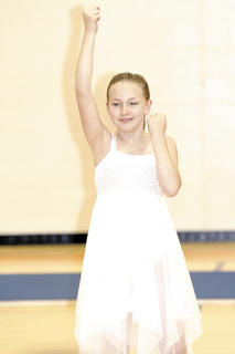 Katelynn Kidwell dances her way through the talent show.
