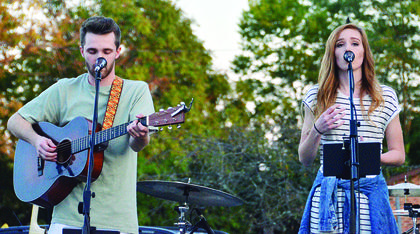 Tanner Whitt and Ariana Johnson perform at the annual ice cream social held Sept. 15.  Photos by Jerry Morris
