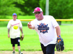 Coaches compete in game  for Strike Out Cancer