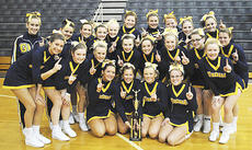 """<div class=""""source"""">Photo Submitted</div><div class=""""image-desc"""">The Grant County High School won their fourth consecutive regional cheerleading title Jan. 8 at Shelby County High School. They will head to Western Kentucky University Feb. 19, to compete in the Kentucky Association of Pep Organization Sponsors State Competition. Last year, the cheerleaders finished just shy of placing in the top five at state.</div><div class=""""buy-pic""""></div>"""