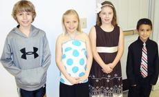 """<div class=""""source""""></div><div class=""""image-desc"""">ART AWARD WINNERS: Brendon Hornsby, Crittenden-Mt. Zion Elementary, second place, Abby Huppertz, CMZ, third place; Michaela Price, Dry Ridge Elementary, second place and Nikolas Dionne, DRE, third place.  These awards were from the Grant County Conservation District. The contests were sponsored by Ky. Farm Bureau Federation and the Ky. Association of Conservation Districts.</div><div class=""""buy-pic""""></div>"""