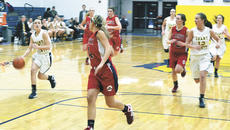 """<div class=""""source""""></div><div class=""""image-desc""""> Jenna Martin races to the basket while trying to hold off a St. Henry player as Megan Foltz and Jordan Allen follow.</div><div class=""""buy-pic""""><a href=""""/photo_select/16813"""">Buy this photo</a></div>"""