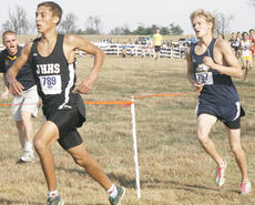 "<div class=""source"">Matt Birkholtz</div><div class=""image-desc"">Grant County senior cross-country runner Jordan Cummins races for the finish at the state cross-country meet, Nov. 13 at the Kentucky Horse Park in Lexington. Cummins finished in 13th place, along with the boys' team placing 13th.</div><div class=""buy-pic""></div>"