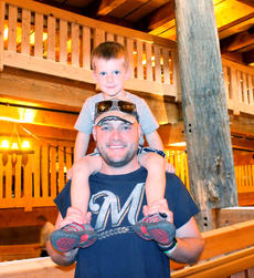"""<div class=""""source"""">Amanda Kelly</div><div class=""""image-desc"""">Cael and Jamie Meinen zig-zag down the ramp that connects the Ark's deck while touring with their family. </div><div class=""""buy-pic""""><a href=""""/photo_select/29589"""">Buy this photo</a></div>"""
