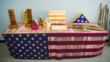 Operation Honor displays some producted hand-crafted by veterans.