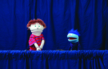 Grant County Church of Christ presented a puppet show of the story of Jesus healing a lame man to walk.