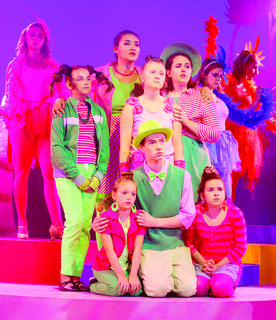 "Several youth performers took the stage for ""Seussical"" during its opening weekend July 6."