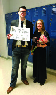 GCHS students Gage Rayburn and Hannah Herindon