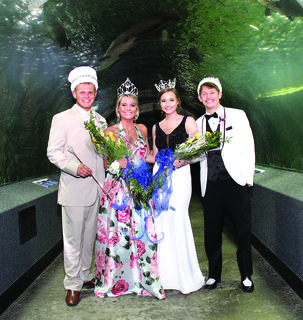 Grant County High School's (top photo) senior prom king Seth O'Nan, senior prom queen Janna Saylor, junior princess Madison Vogt and junior prince Alex Brockman (Photo by Life Touch).