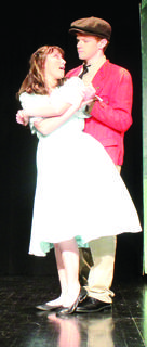 "Caylee Lacey (Liesl von Trapp) is ""16 Going On 17"" as she dances with Colby Faulkner's Rolf Gruber during rehearsal."