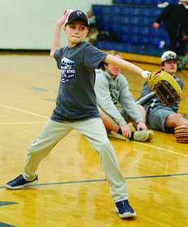Zander Taylor works on his pitching.