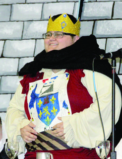 Jeff Dalton portrays the king at the feast during the WHS Renaissance Fair.