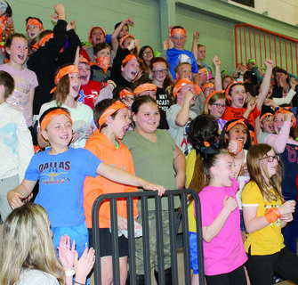Students embraced their inner survivors during the unique pep rally. Photos by Bryan Marshall