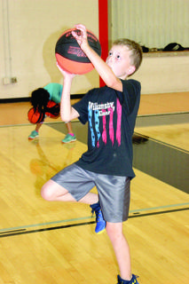 Brayden Beach goes for the lay-up.