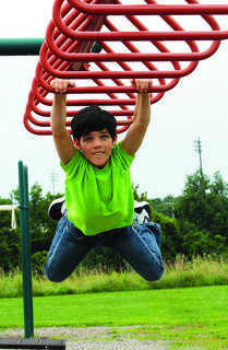 DRE student Leiland Foran hangs out during recess.