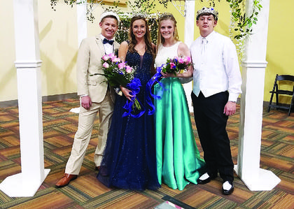 GCHS PROM COURT - Seniors Alex Brockman and Madison Vogt were named this year's Grant County High School Prom King and Queen. Juniors Karlee Menefee and Dylan Crowell were named Princess and Prince. Photo provided