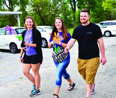 Riley Colson, Caitlyn Simpson and Daniel Nicholson walk to remember Eleanor Colson.