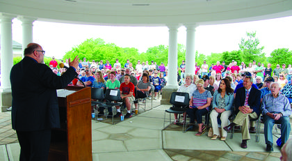 A crowd gathered for the annual Memorial Day event at the Kentucky Veterans Cemetery North on May 27. Photos by Mark Verbeck