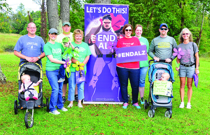 Team Genesis-Grant Center in Williamstown pose for a photo at the annual Alzheimer's walk.