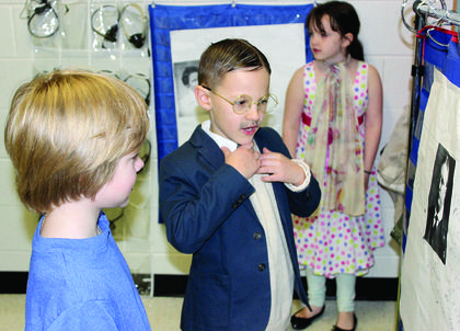 """Andrew Berry dresses up as """"Rough Rider"""" Theodore Roosevelt."""