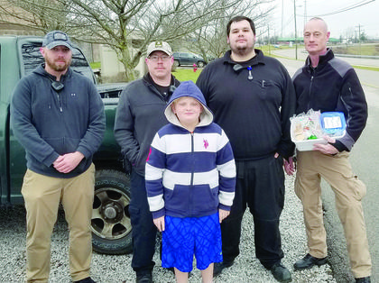 Alex McAllister delivered goods to the Grant County Detention Center.