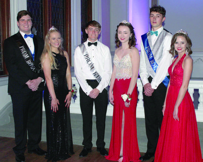 WHS PROM COURT — Senior Duke and Duchess: Aaron Roller and Saralynne McKinley, Senior King and Queen: Corey Fryman and Brooke Surrett and Senior Prince and Princess: Sjaak Giesbers and Emily Davis.